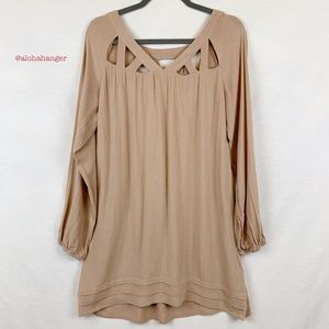 Entro Light Dusty Rose Pink Cut Out Tunic!